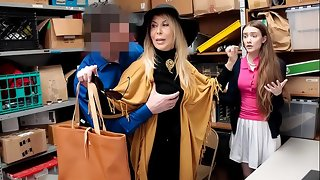 Security Officer Fucked Grand little one including Grand Mother For Shoplifting