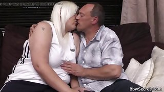 wed finds retrench cuckold with ash-blonde plus-size