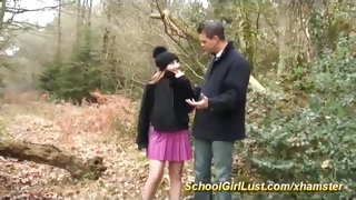 young schoolgirl doing deepthroat