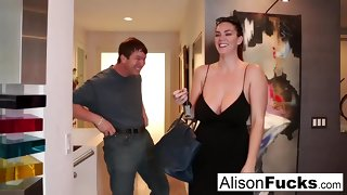 Busty Alison Tyler meets the brush Catfish haphazardly fucks his friend
