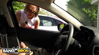 BANGBROS - Longhair Non-specific Catches Me Flashing Dick Here A Parking Lot